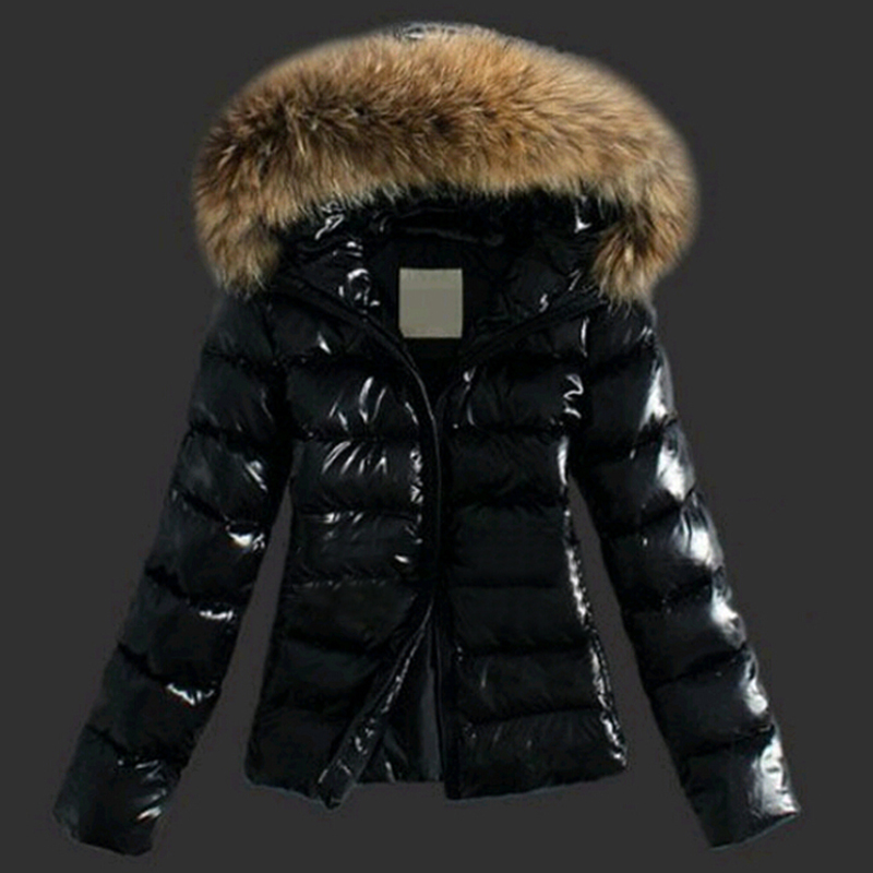 Lovely Euramerican Hooded Collar Black Faux Fur Coat
