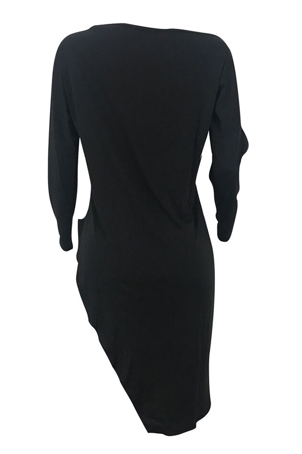 Lovely Casual Asymmetrical Black Blending T-shirt