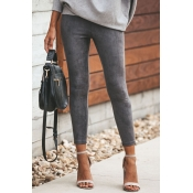 Lovely Euramerican Skinny Grey Pants