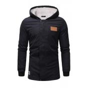 Lovely Euramerican Hooded Collar Black Cotton Cott