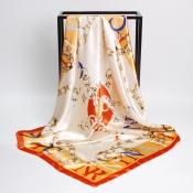 Lovely Euramerican Printed Orange Scarves
