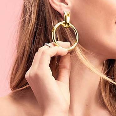 Lovely Chic Circle Gold Metal Earring