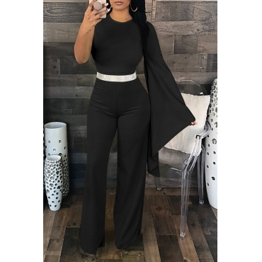Lovely Elegant Asymmetrical Black One-piece Jumpsuit (Not Including Accessories)