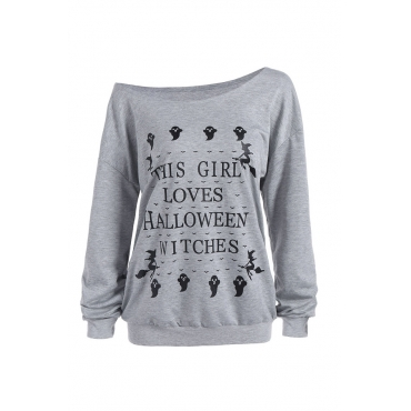 Lovely Casual Letters Printed Grey Hoodies