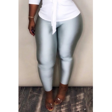 Lovely Chic Skinnny Silver Pants