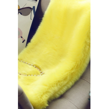 Lovely Temperament Winter Yelllow Faux Fur Scarves