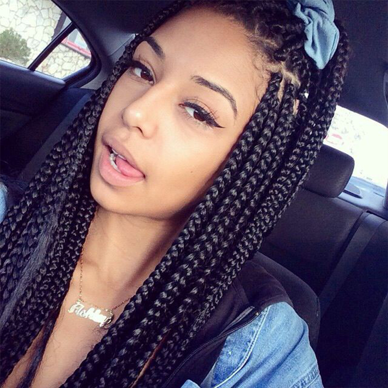 Lovely African Black Braid Wigs