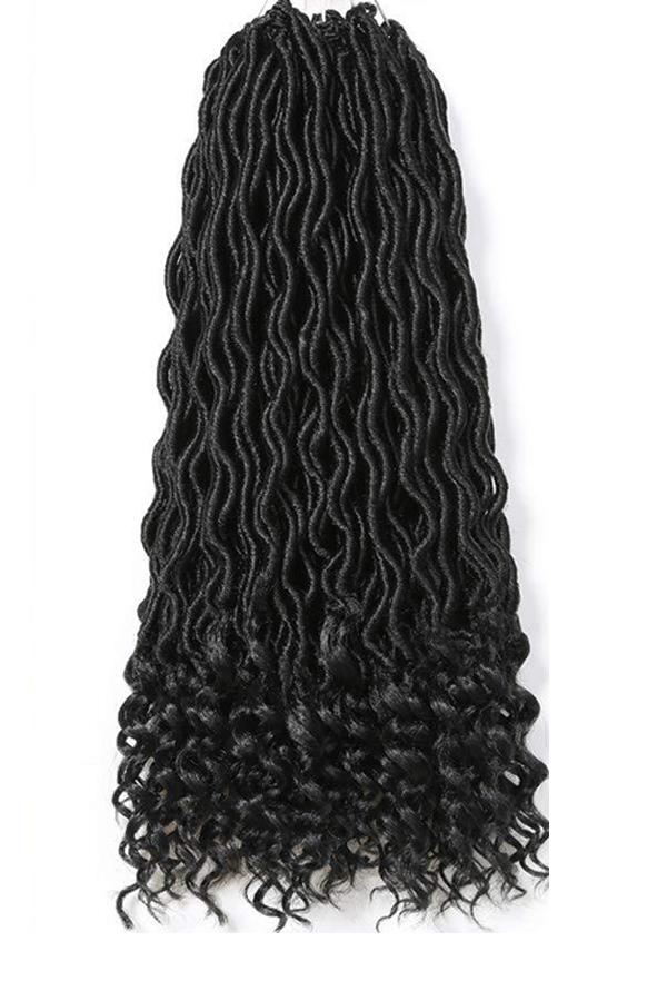 Pelucas De Trenza Negras Preciosas De Moda