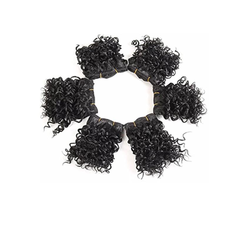 Lovely Fashion Small Roll Black Wigs(Single Sale)