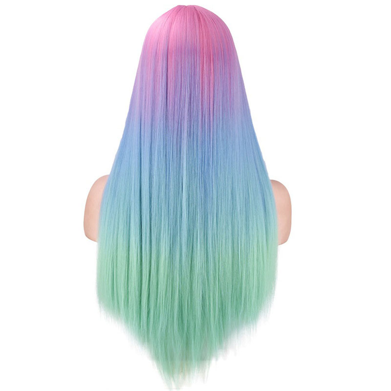 Lovely Chic Multicolor Gradual Change Wigs