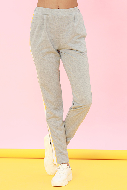 Lovely Casual Striped Light Grey Loose Pants