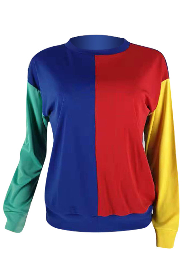 Lovely Trendy Patchwork Multicolor Hoodies