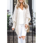 Lovely Fashion Batwing Long Sleeves White Cardigan