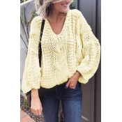 Lovely Fashion Long Sleeves Hollow-out Ke-Bai Mi S