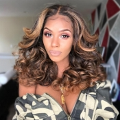 Lovely Fashion Brown Curly Hair Wigs