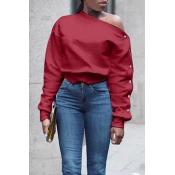 Maglione Rosso Vino Di Tendenza A Manica Lunga