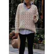 Lovely  Loose Light Tan Sweater