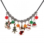 Lovely Fashion Christmas Tree Snowman Pendant Neck