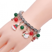 Lovely Fashion Christmas Tree Snowman Pendant Brac