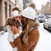 Lovely Casual Winter White Hats(Parent-child Cap)