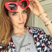 Lovely Chic Cat s Eye Frame Design Red PC Sunglasses