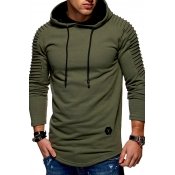 Lovely Casual Ruffle Army Green Hoodies
