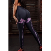 Lovely Sportswear Printed Black Leggings