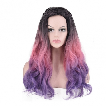 Lovely Fashionable Gradient Pink Wigs