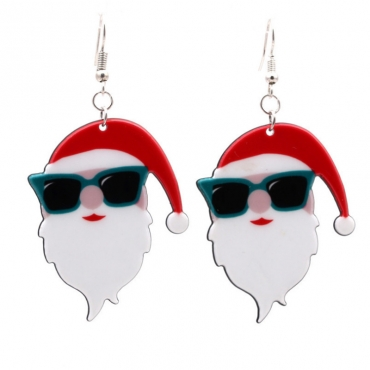 Lovely Fashion Santa Claus Red Earring