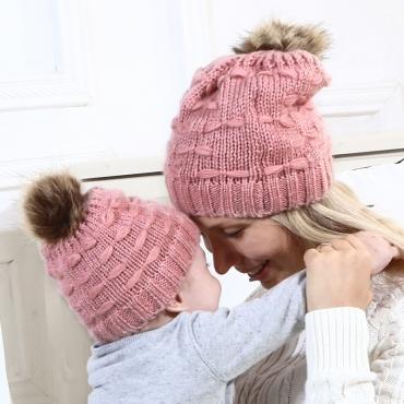 Lovely Fashionable Pink Hats(Parent-child Cap)
