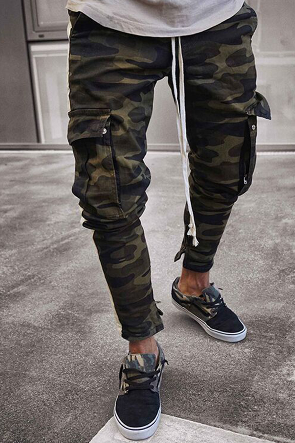 Lovely Casual Skinny Camouflage Printed Jeans