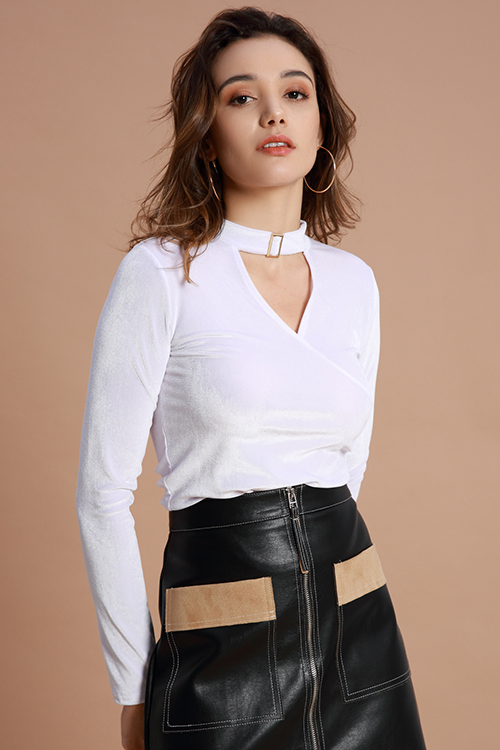 Lovely Casual Hollowed-out White Base Layers