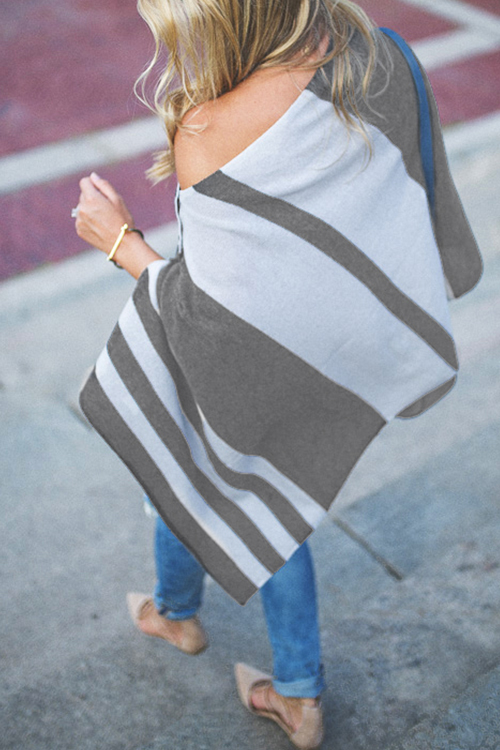Lovely Striped Grey Sweater