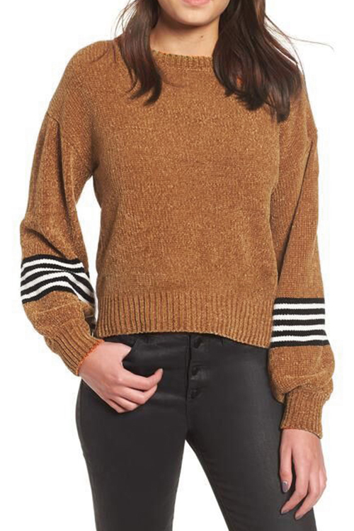 Lovely Casual Striped Croci Sweaters
