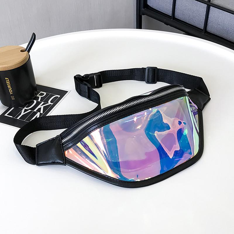 Lovely Trendy Patchwork Black PU Crossbody Bag