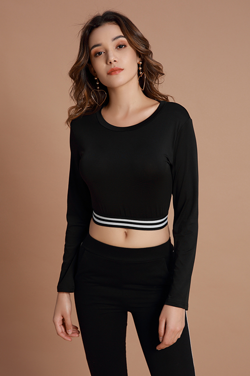 Lovely Sportswear Hollowed-out Black Cotton Hoodies