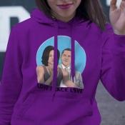 Lovely Trendy Hooded Collar Printed Purple Hoodies