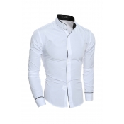 Lovely Trendy Patchwork White Blending Shirts