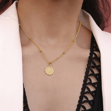 Lovely Chic Taurus Gold Metal Necklace