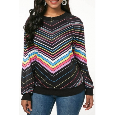 Lovely Casual Striped Multicolor Cotton T-shirt