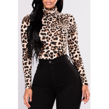Lovely Casual Leopard Base Layers