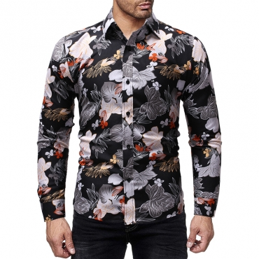 Lovely Casual Printed Multicolor Cotton Shirt