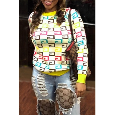 Lovely Casual Printed Multicolor Twilled Satin Hoodies