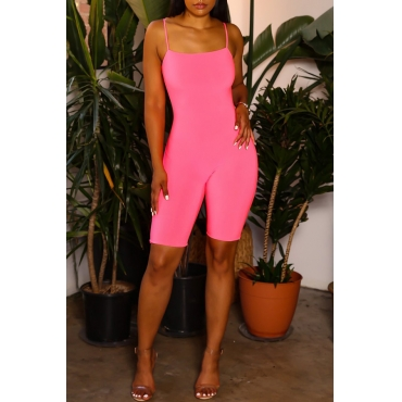 Lovely Chic Skinny Light Pink One-piece Rompers
