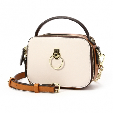 Lovely Casual Patchwork Creamy White Crossbody Bag