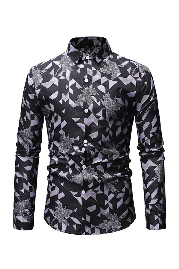 Lovely Casual Printed Grey Cotton Shirts