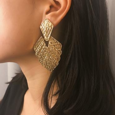 Lovely Fashion Irregularity Gold Alloy  Earring