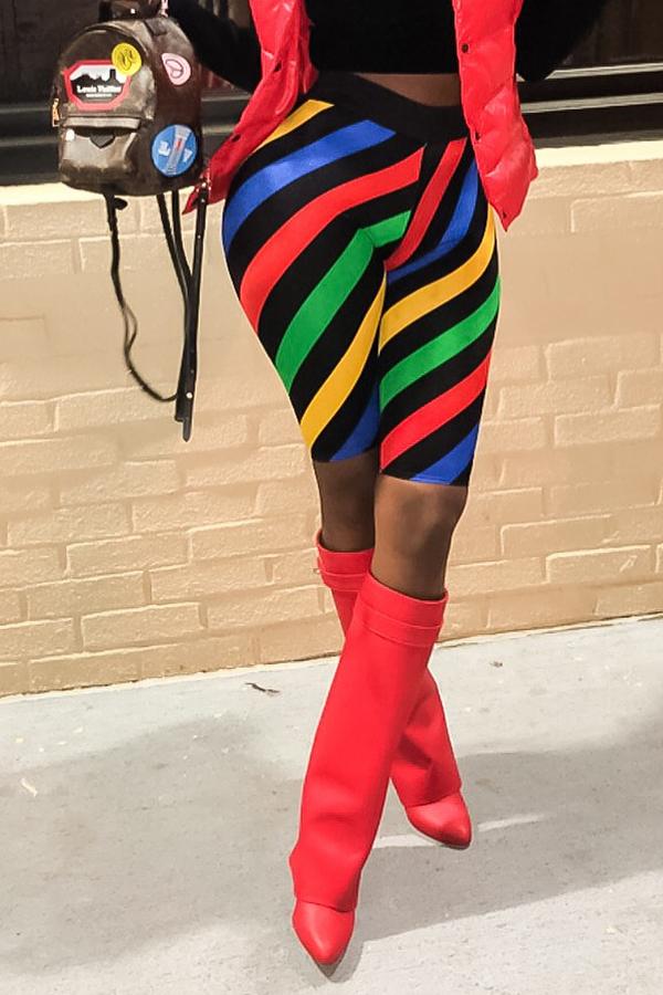 Graziosi Shorts Multicolor A Righe Casual