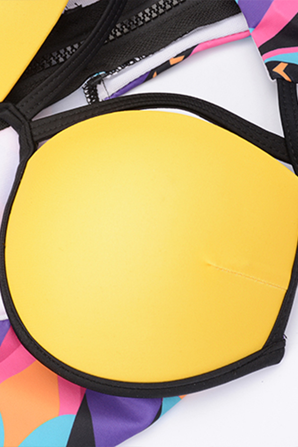 Lovely Sexy Hollow-out Yellow One-piece Swimwears