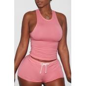 Lovely Sportswear Drawstring Deep Dusty Pink Two-p